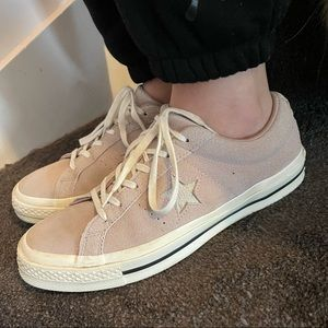 Converse One⭐️Star Suede Tan Shoes - Size 9